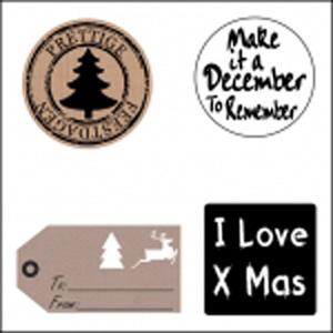 Kerst etiketten