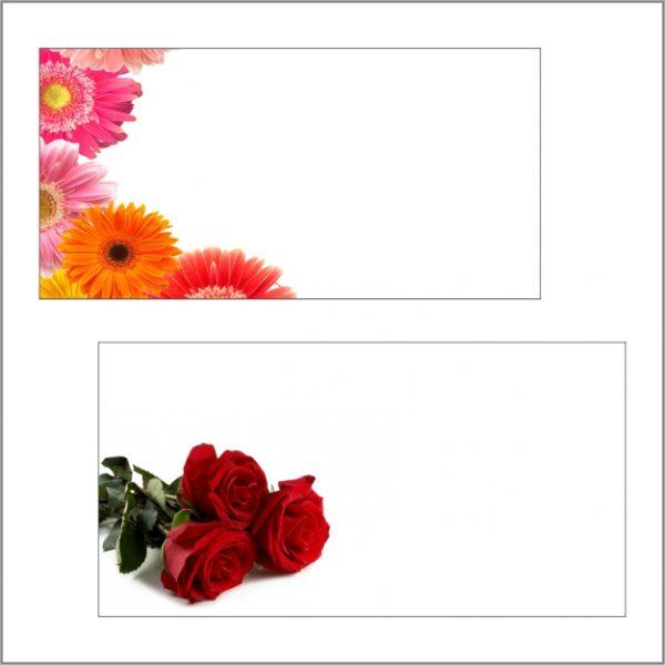 Blanco bloemenkaartjes